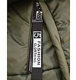 Куртка до бедра, с капюшоном №17-154-хаки, фото 2