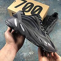Кроссовки женские черные осенние Адидас Yeezy Boost 700 V2 Black Адидас Изи Буст 700