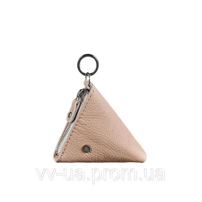 Монетница BlankNote 2.0 пирамида, крем-брюле, бежевый (BN-CW-2-crem-brule), кожа
