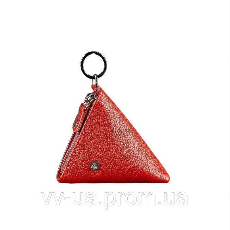 Монетница BlankNote 2.0 пирамида, рубин, красный (BN-CW-2-rubin), кожа
