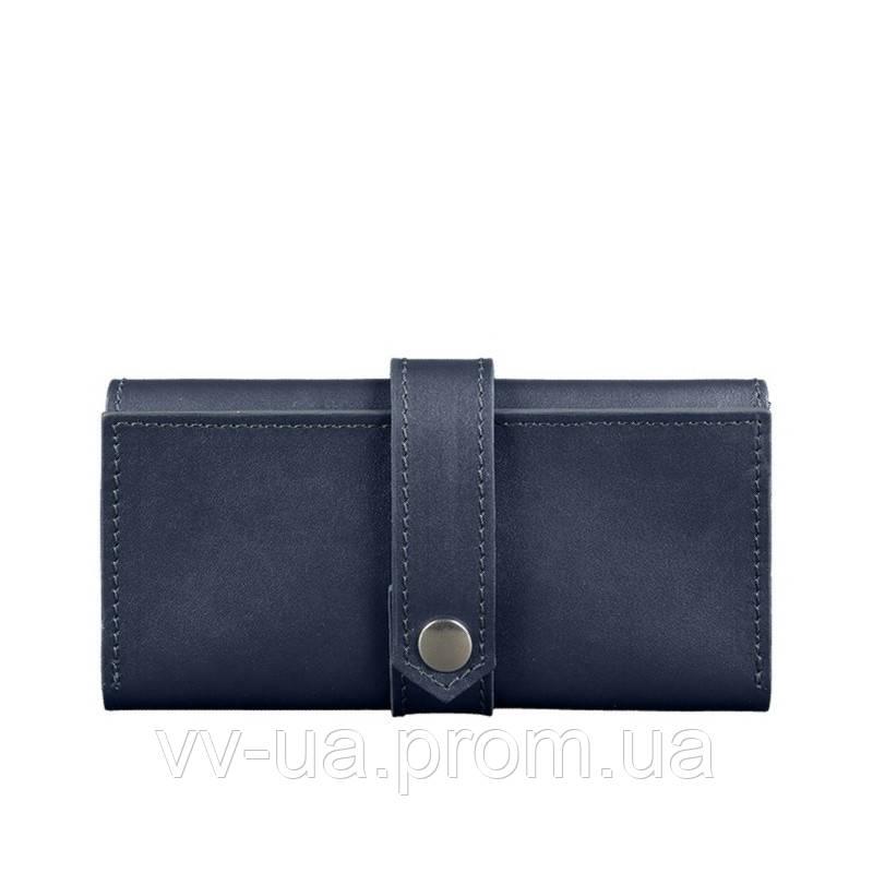 Портмоне BlankNote 3.0 Темно-синий (BN-PM-3-navy-blue), кожаный