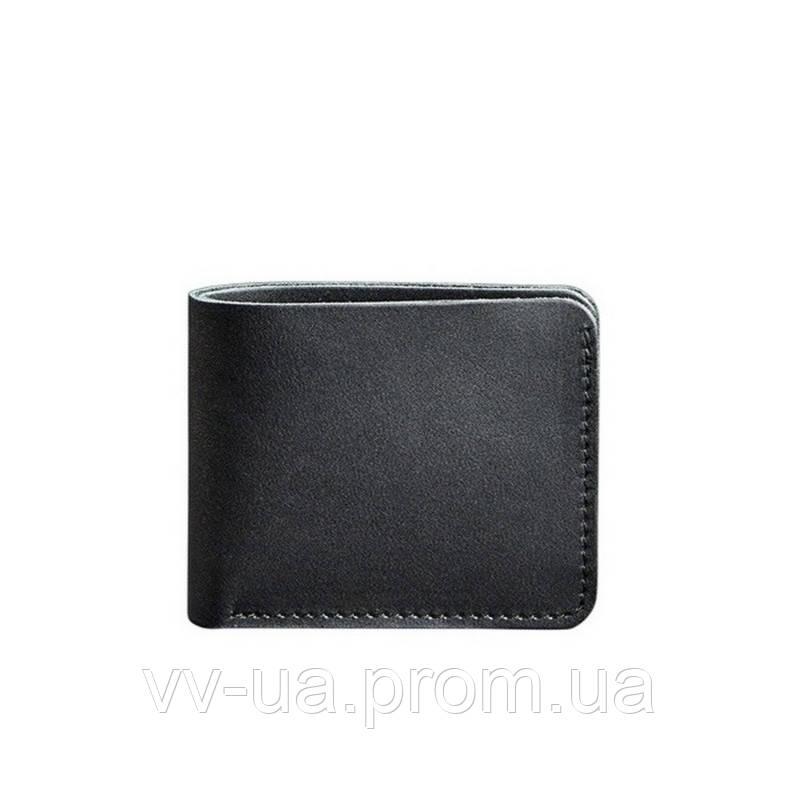 Портмоне BlankNote 4.1 (4 кармана) (Кожа Krast) Графит, черный (BN-PM-4-1-g)