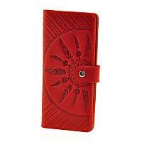 Портмоне BlankNote 7.0 Инди Коралл, красный (BN-PM-7-coral-ls), кожаный, фото 1