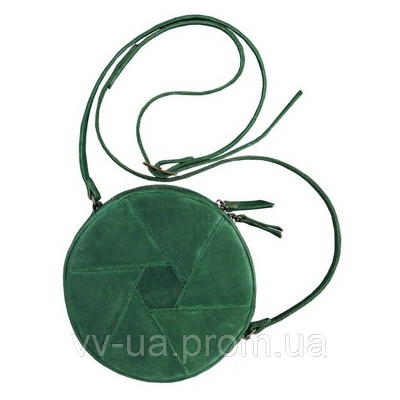 Сумка Бон-бон BlankNote Изумруд, зеленая (BN-BAG-11-iz), кожа