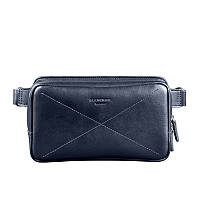 Сумка поясная BlankNote Dropbag Maxi темно-синий (BN-BAG-20-navy-blue), кожа