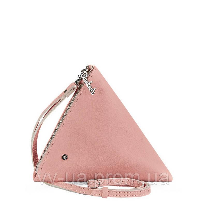 Сумка-косметичка BlankNote пирамида, барби, розовая (BN-BAG-25-barbi), кожа