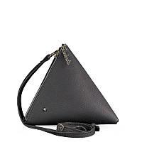 Сумка-косметичка BlankNote пирамида, оникс, черная (BN-BAG-25-onyx), кожа