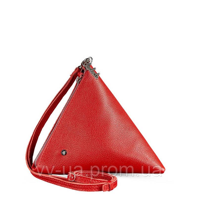 Сумка-косметичка BlankNote пирамида, рубин, красная (BN-BAG-25-rubin), кожа