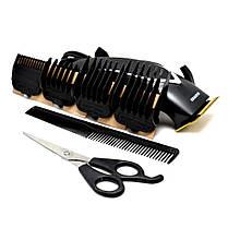 Профессиональная машинка - триммер для стрижки волос Gemei GM-809 с насадками, фото 2