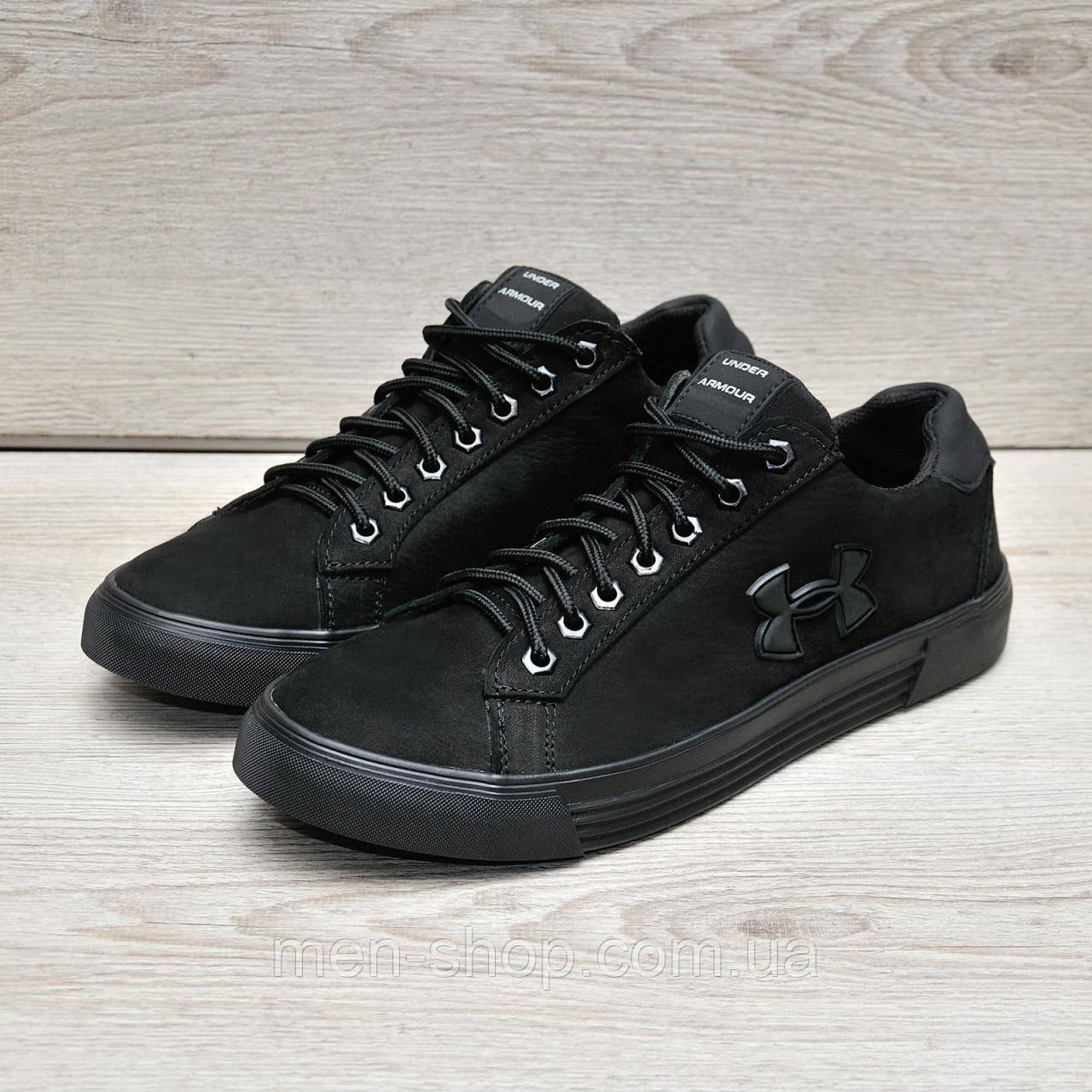 Кожаные туфли в стиле Under Urmour 45