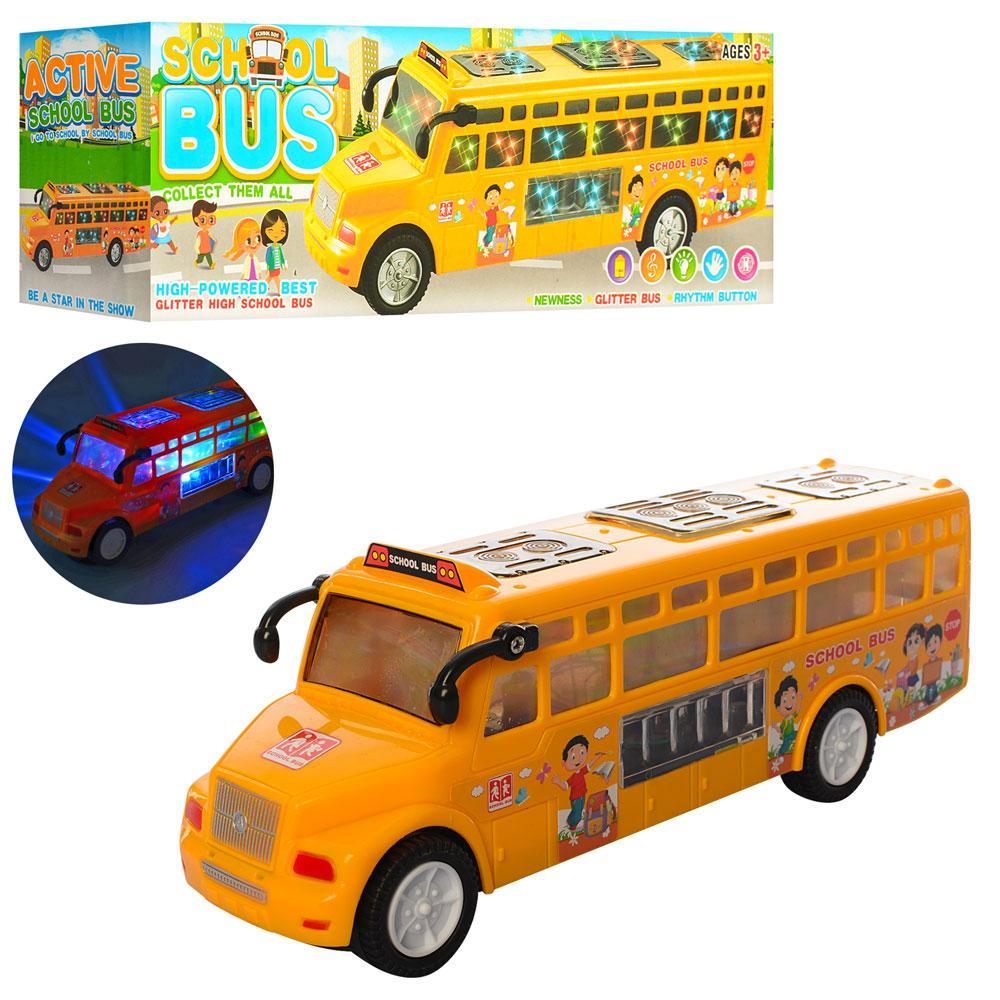 Автобус школьный, звук, свет, ездит, LX371