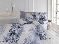 Бело-черное постельное белье NAZENIN lamer gri Евро Ранфорс Турция