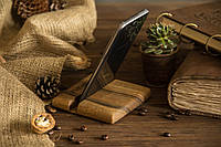 Портативный компактный деревянный аксессуар с гравировкой для смартфона планшета на рабочий стол в офис дом