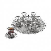 Набор чайных стаканов Sena Hanedan серебристый на 6 персон, фото 1