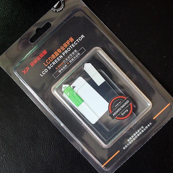 Защитное стекло XP для LCD экрана фотоаппаратов Sony A5000, A5100 ( на складе )