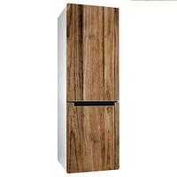 Виниловая наклейка на холодильник Структура дерева под доски ПВХ пленка глянцевая с ламинацией 65*200 см