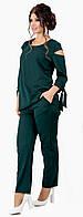 Женский стильный костюм двойка (кофта + брюки) костюмка батал с 48 по 62 рр