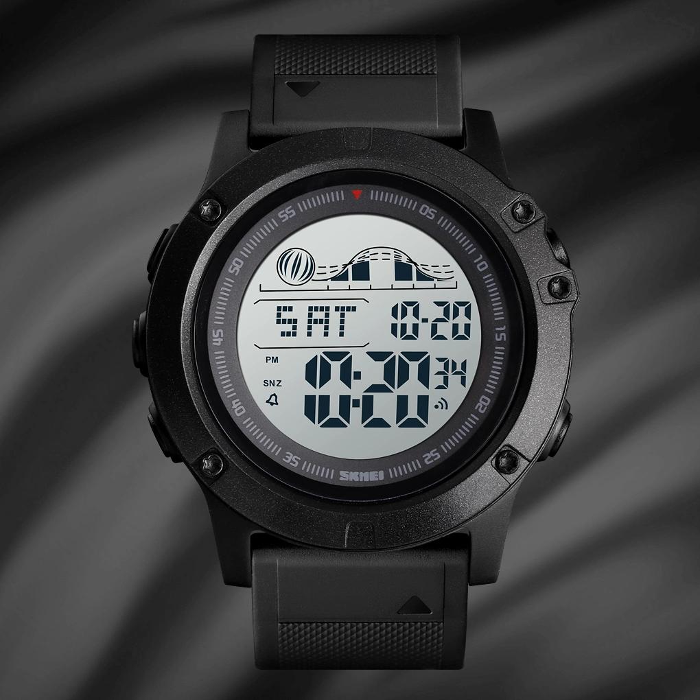 Skmei 1476 черные мужские спортивные часы