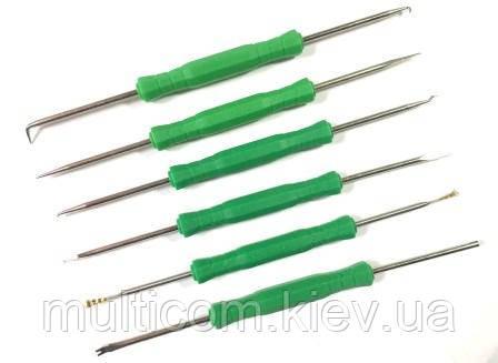 13-08-052. Набор инструментов для пайки, в коплекте 6 предметов, Yihua-126