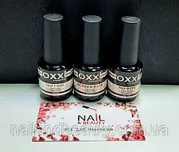 База Оксі Oxxi 15 ml + Топ Oxxi No wipe (без липкого шару) + Top Оксі Coat 15 ml для гель-лаку