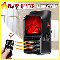 Электрический камин обогреватель с пультом Flame Heater 900W