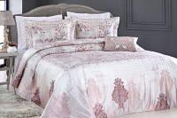 Красивое покрывало PEPPER HOME Турция MIA Pink 270*260 с подушкой и наволочками