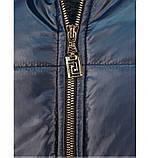 Куртка до бедра, с капюшоном №17-154-синий, фото 4