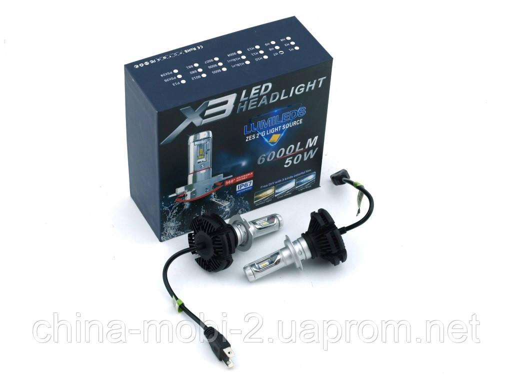 Car LED X3 H4 Headlight автомобильные лампы Lumileds Car Lamp