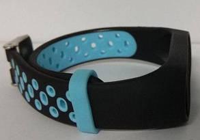 Силиконовый ремешок для Xiaomi Mi Band 3/4 Black-Blue Nike, фото 2
