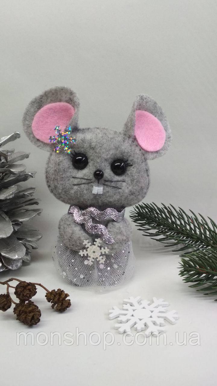 Мишка сніжинка