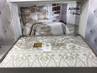 Покрывало на двуспальную кровать с наволочками Moda box Aden Турция Хлопок Евро