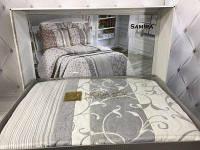 Красивое покрывало на кровать с наволочками Moda box Samira турецкое производство Евро Жаккард