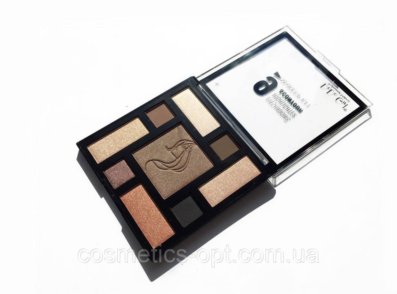 Тени, хайлайтер, бронзатор Do Do Girl Makeup Kit 03