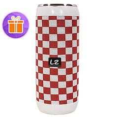 ☇Беспроводная колонка LZ M118 Red + White USB порт microSD карта AUX вход microUSB музыкальная