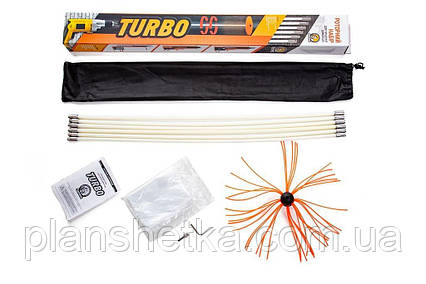 Роторный набор для чистки дымоходов Savent TURBO (1 м х 10 шт), фото 2