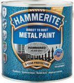 Фарба по металу, молоткова поверхню Hammerite, блакитна 0,75 л.