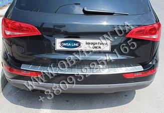 Накладка на задний бампер Audi Q5 (Omsa Line, нержавейка)
