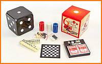 Настольные игры 6в1 покер, домино, шахматы, шашки, нарды, кости