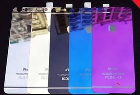 """Защитное стекло iPhone 6 COLORFUL Silver (2pcs) гравировка butterflyl """"Акционная цена"""""""
