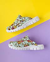 """Медична взуття сабо """"Сови зелені"""" з підошвою Lite, фото 1"""