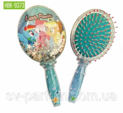 HBK-9373 Детская щетка для волос (блёстки) Beauty LUXURY