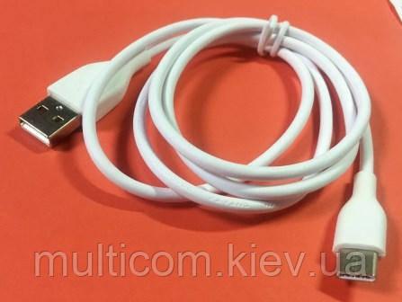 05-10-118. Шнур USB штекер А - штекер USB type C, белый, 1м
