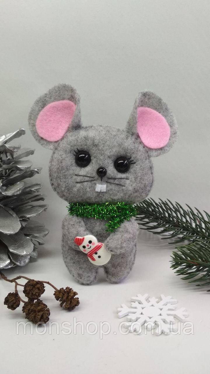 Мышка с снеговиком