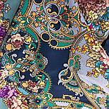Кружевной 951-13, павлопосадский платок (шаль, крепдешин) шелковый с шелковой бахромой, фото 6