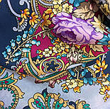 Кружевной 951-13, павлопосадский платок (шаль, крепдешин) шелковый с шелковой бахромой, фото 4