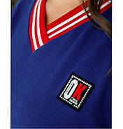 / Размер 50-52,54-56,58-60 / Женское спортивное платья асимметричным подолом 725-Электрик, фото 2