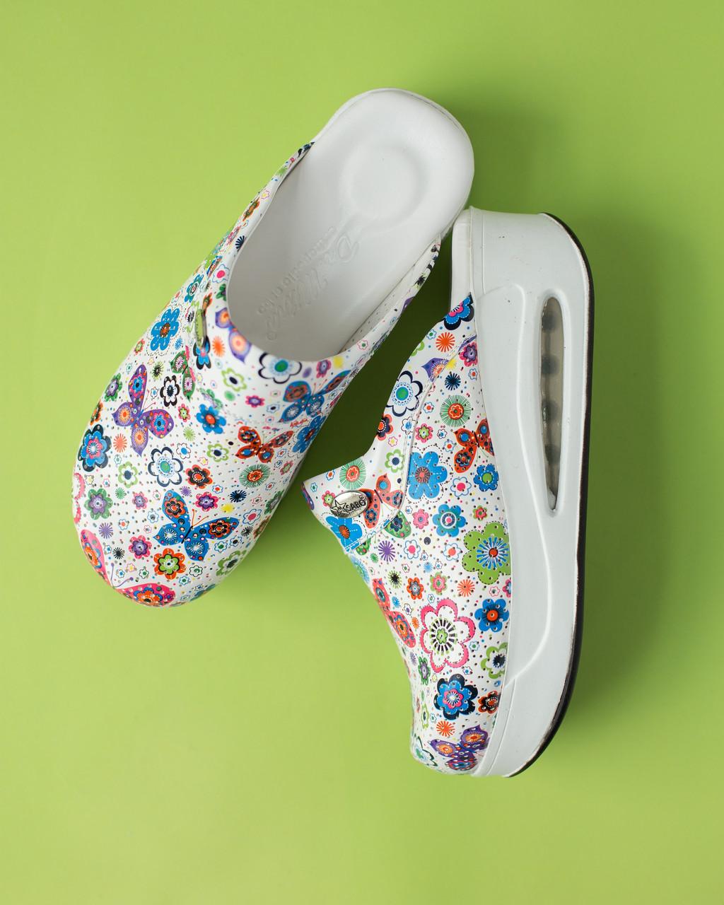 "Медицинская обувь сабо ""Бабочки"" с подошвой AIR MAX"