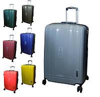 Средний чемодан из полипропилена на четырёх колёсах Lucky Bird