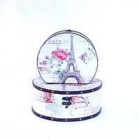 Шкатулка круглая набор из 2-х — Париж SH31297-447