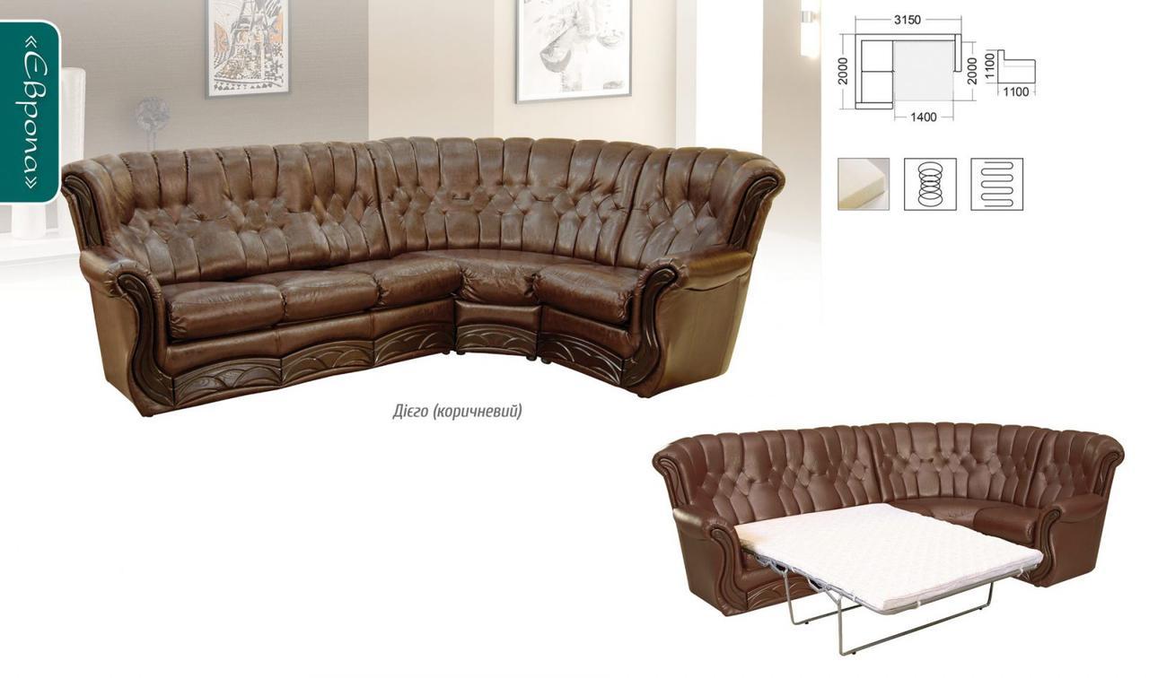 Угловой диван Мебель-Сервис «Европа»